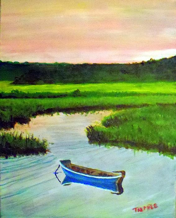 Boat Sales Cape Cod: Cape Cod Marsh Boat Print By William Tremble