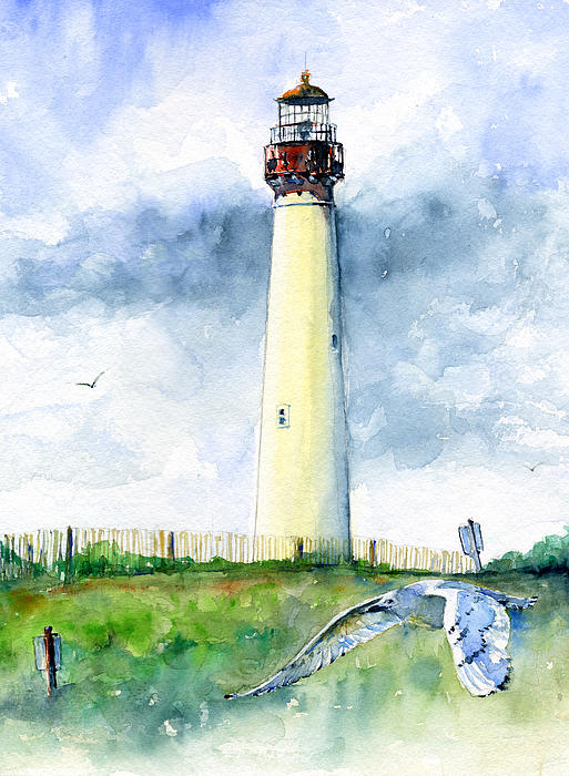 John D Benson - Cape May Lighthouse Portrait