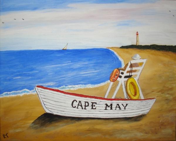 Cape May Print by Rita Tortorelli