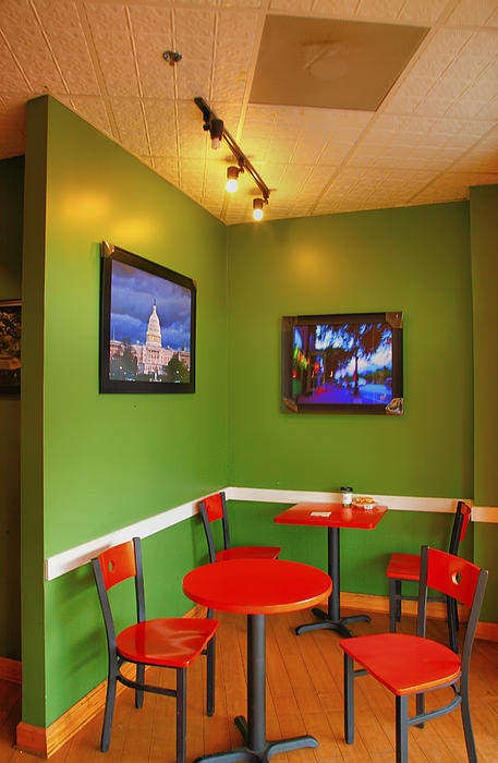 Capitol Hill Cafe Print by Steven Ainsworth