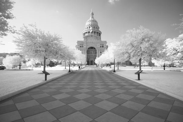 Captiol Ir Print by John Gusky