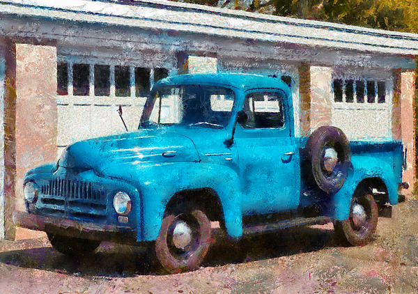 Car - Truck - An International Old Truck Print by Mike Savad