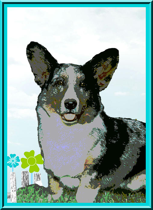 Cardigan Welsh Corgi Print by One Rude Dawg Orcutt