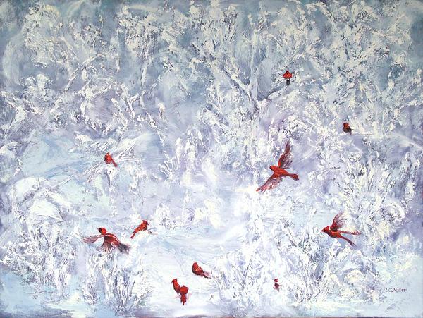 Cardinal Zen Print by Leda Miller