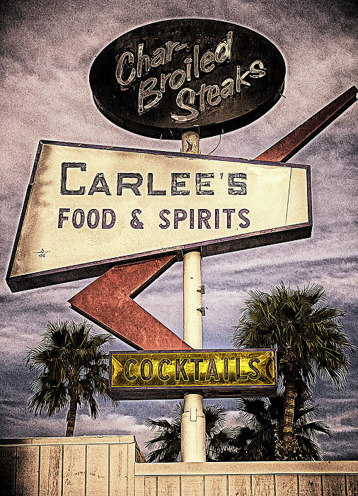 Carlees Food And Spirits Print by Ron Regalado