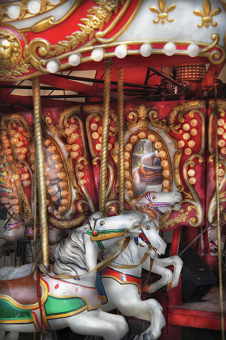 Carnival - The Carousel Print by Mike Savad