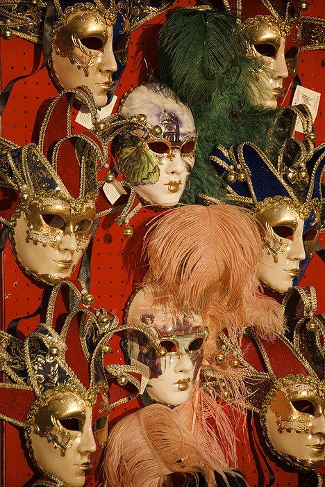 Carnival Masks For Sale Print by Jim Richardson