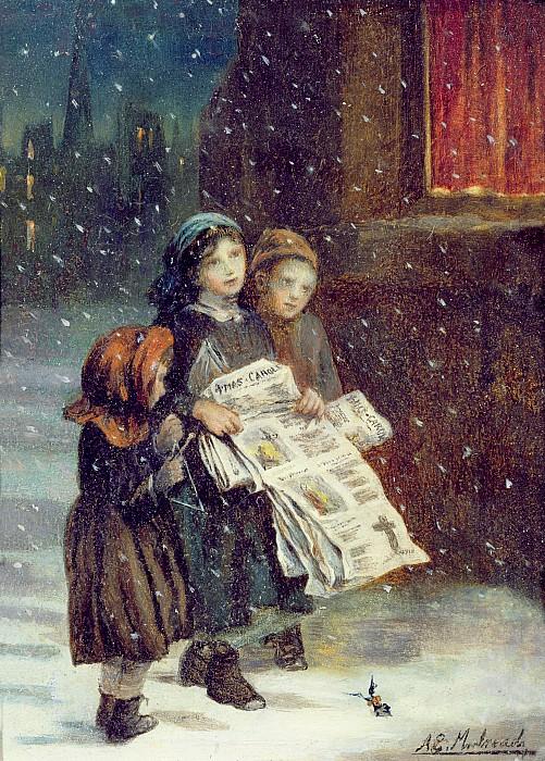 Carols For Sale  Print by Augustus Edward Mulready