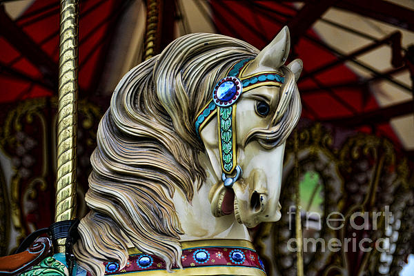 Carousel Horse 3 Print by Paul Ward