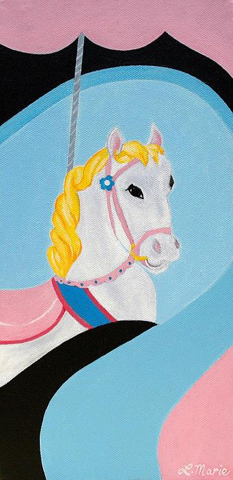 Carousel Horse Print by Lisa Marie