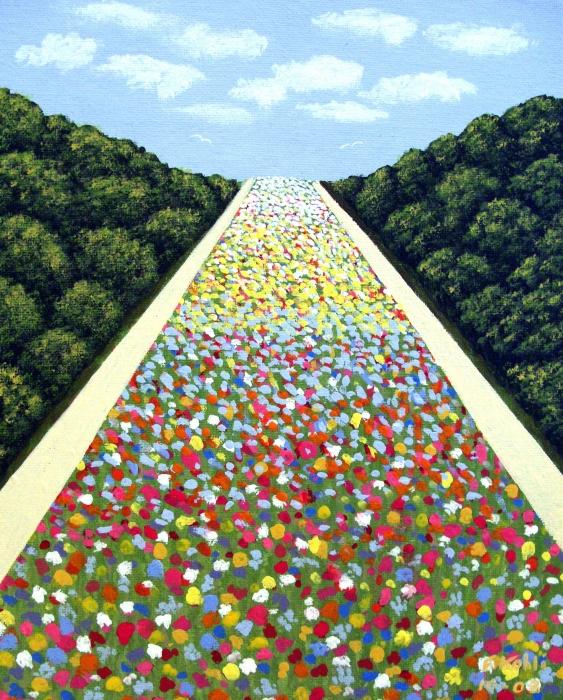 Carpet Of Flowers Print by Frederic Kohli
