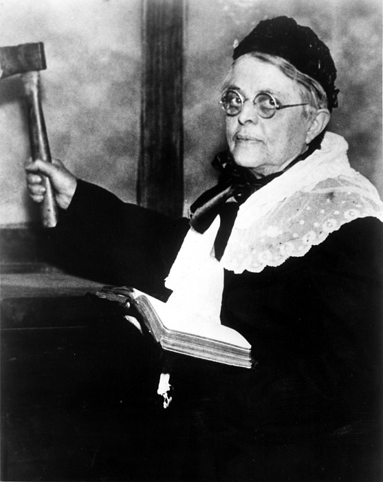 Carrie Nation, Circa 1900 Print by Everett