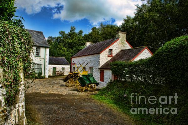 Cartwheel Cottages Print by Kim Shatwell-Irishphotographer