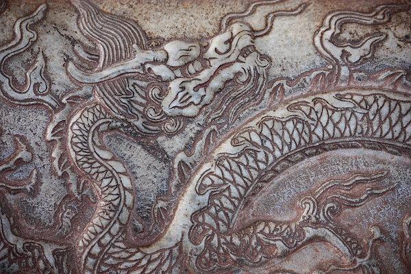 Carved Dragon Print by Carol Groenen