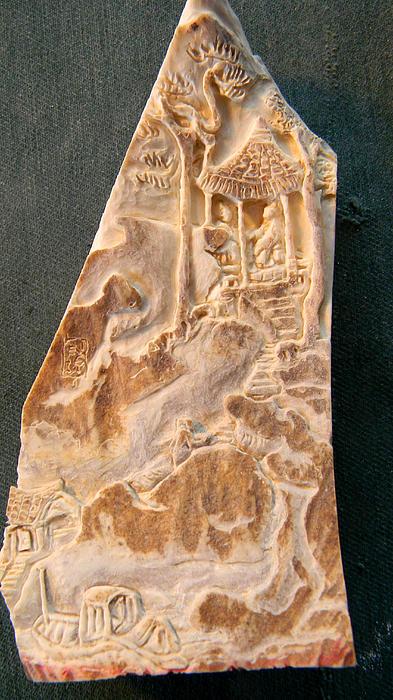 Carving A Landscape Print by Debbi Chan