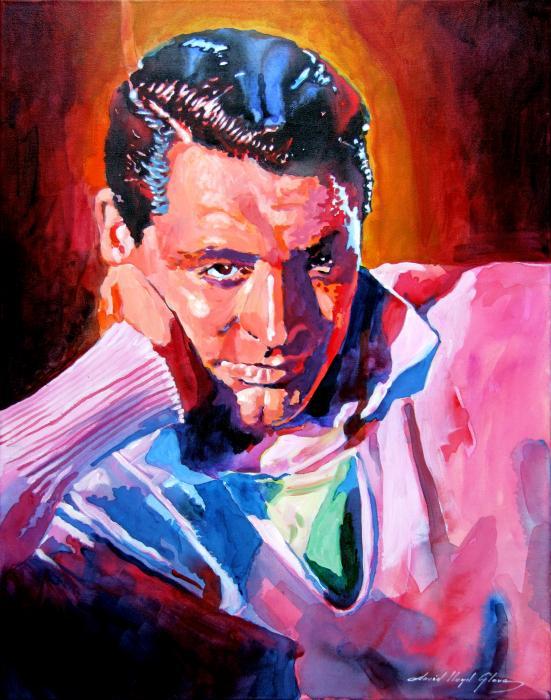 Cary Grant - Debonair Print by David Lloyd Glover