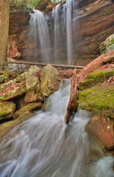 Cascading Waterfall Print by Douglas Barnett