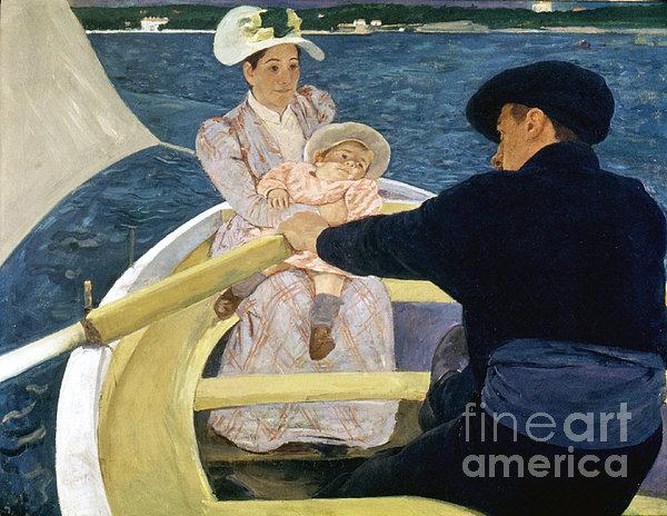 Cassatt: Boating, 1893-4 Print by Granger