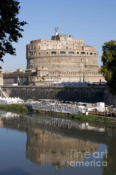 Castel Sant'angelo Castle. Rome Print by Bernard Jaubert