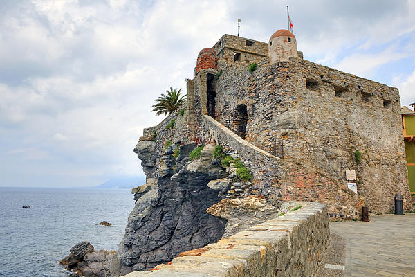 Castello Della Dragonara In Camogli Print by Joana Kruse