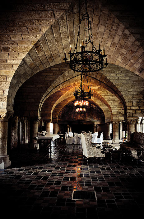 castle dining room by elena melnikova