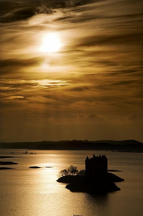 Castle Stalker At Sunset, Loch Laich Print by John Short