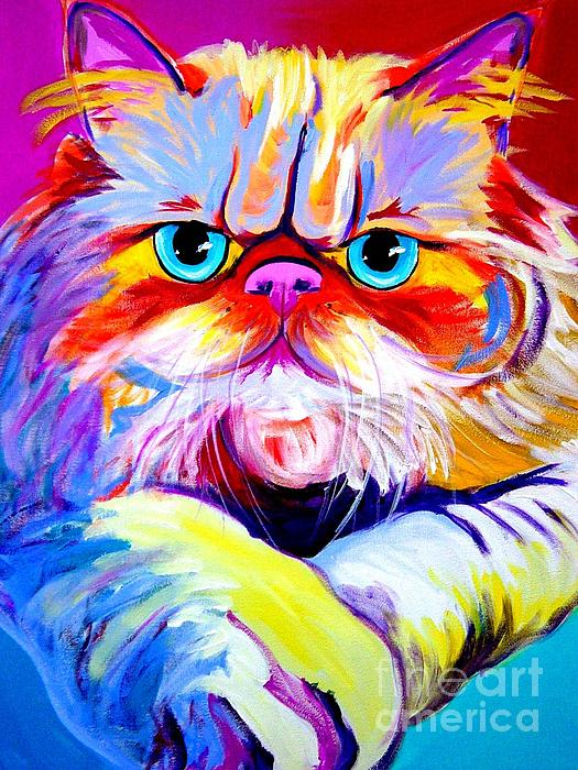 Cat - Tigger Print by Alicia VanNoy Call