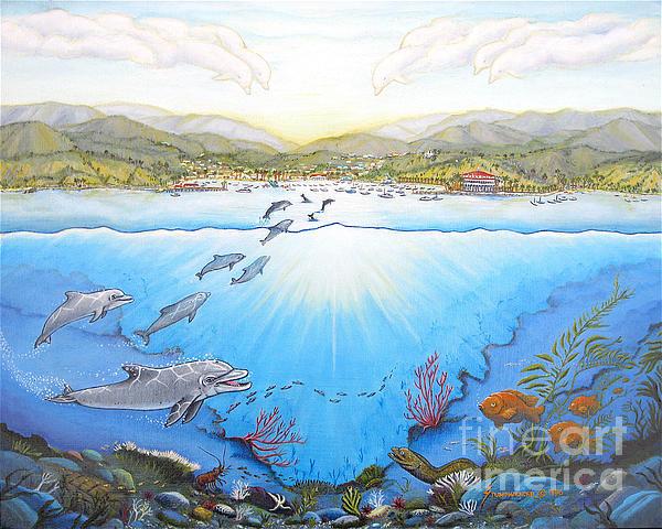 Catalina Island California Print by Jerome Stumphauzer