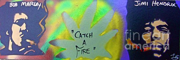 Catch A Fire Print by Tony B Conscious
