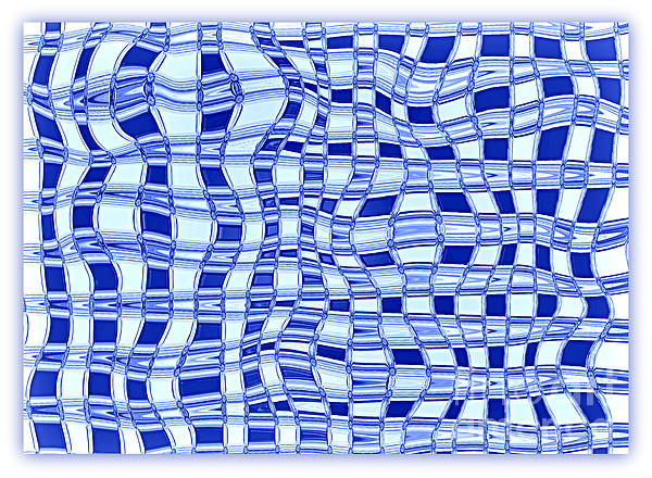 Catch A Wave - Blue Abstract Print by Carol Groenen