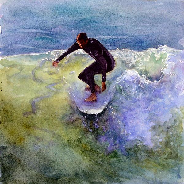 Catch A Wave Print by Bonnie Rinier