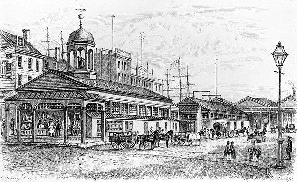 Catharine Market, 1850 Print by Granger
