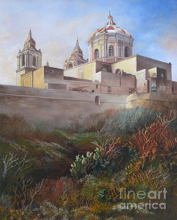 Cathedral Mdina Print by Raymond Frans