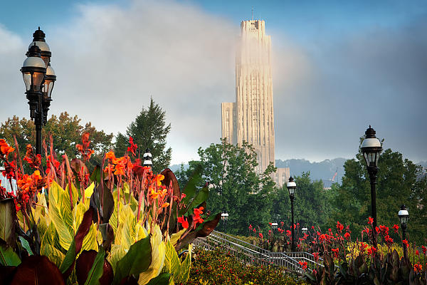 Cathedral Of Learning 2 Print by Emmanuel Panagiotakis
