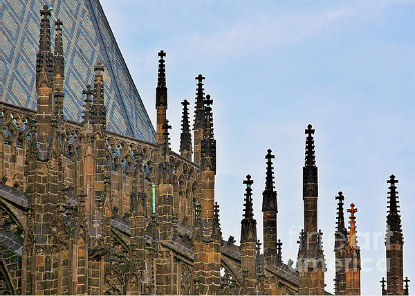 Cathedral Of Ss Vitus - Prague Castle Hradcany - Prague Print by Christine Till