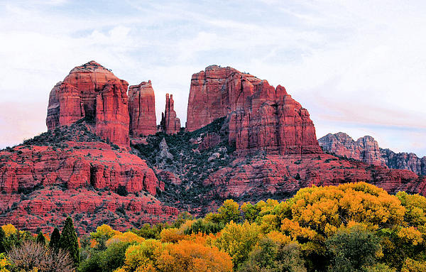 Cathedral Rock Print by Kristin Elmquist