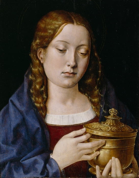 Catherine Of Aragon As The Magdalene Print by Michiel Sittow