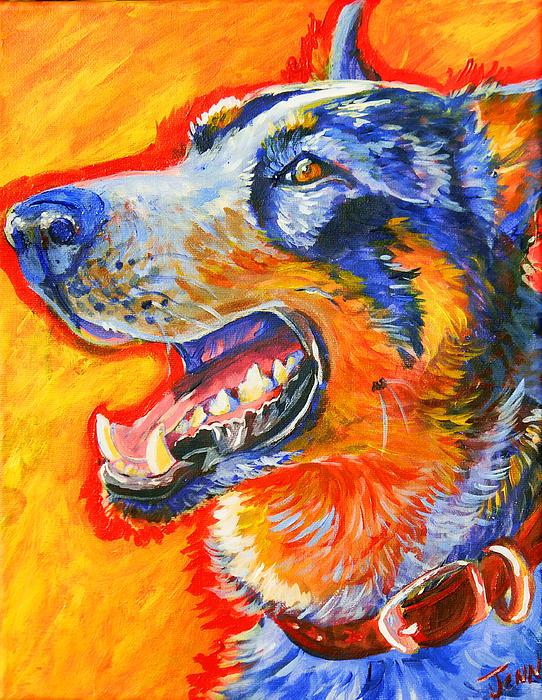 Cattle Dog Print by Jenn Cunningham