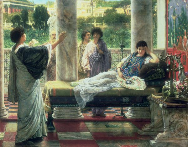 Catullus Reading His Poems Print by Sir Lawrence Alma Tadema