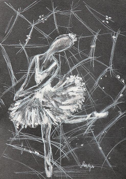 Caught In A Web  Print by Sladjana Endt