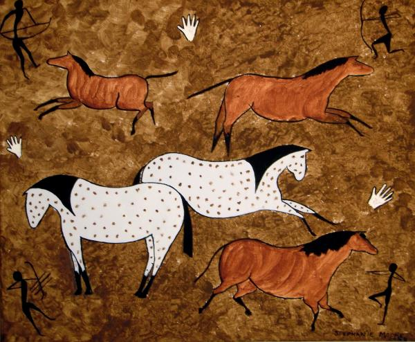 Stephanie Moore - Cave Horses