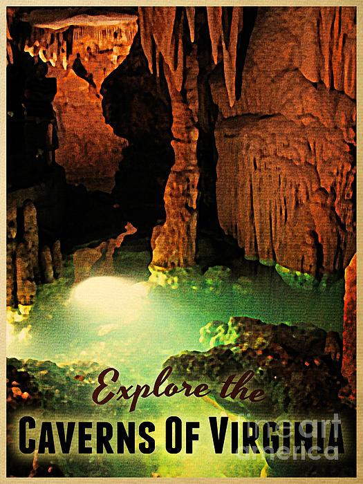 Caverns Of Virginia Print by Flo Karp
