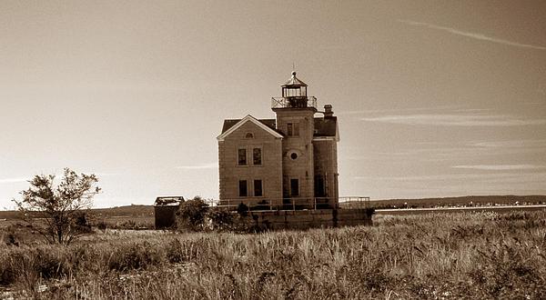 Cedar Island Lighthouse Print by Skip Willits