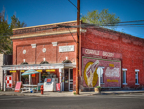 Cedarville California Grocery Store Print by Scott McGuire