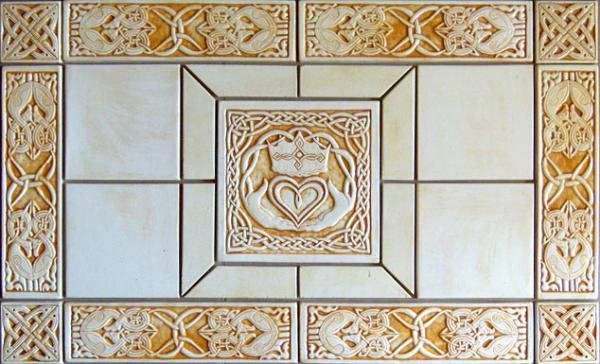 celtic claddagh ceramic tile set by shannon gresham. Black Bedroom Furniture Sets. Home Design Ideas