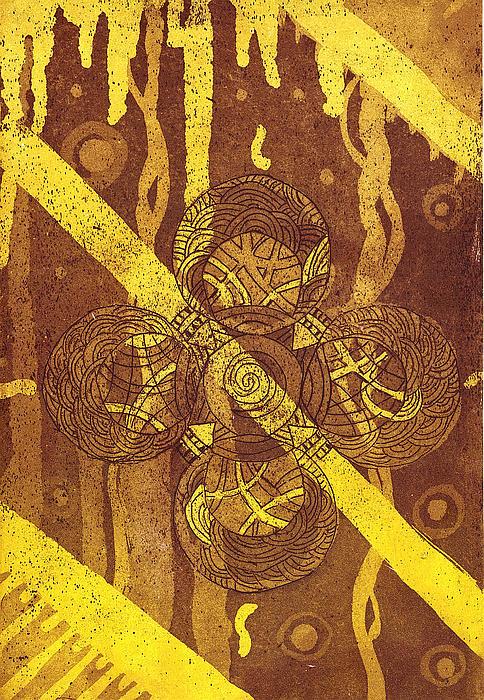 Celtic Cross  2 Print by Tomislav Neely-Turkalj