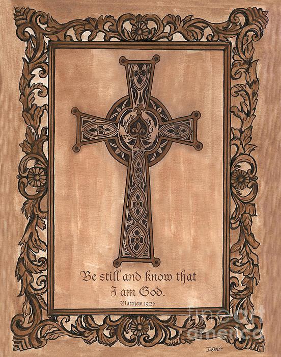Celtic Cross Print by Debbie DeWitt