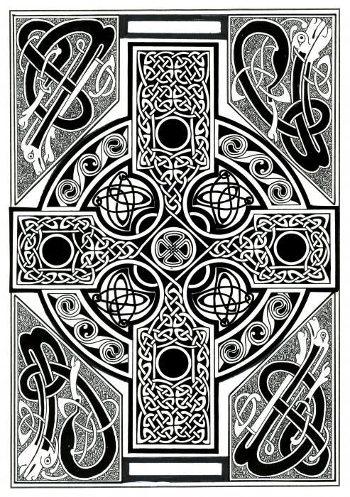 Celtic Cross Tapestry Print by Morgan Fitzsimons