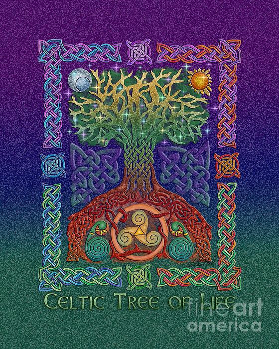 Celtic Tree Of Life Print by Kristen Fox