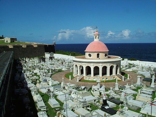 Cemetary Santa Maria Magdalena De Pazzis San Juan Puerto Rico  Print by Steve Monell